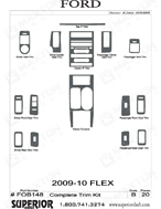 2009 Ford Flex Dash Kit Shadow Sheet