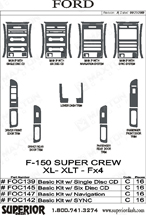 2009 Ford F-150 Dash Kit Shadow Sheet