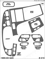 1993 Infiniti Q45 Dash Kit Shadow Sheet