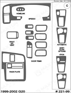 1999 Infiniti G20 Dash Kit Shadow Sheet