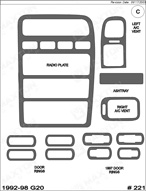 1997 Infiniti G20 Dash Kit Shadow Sheet