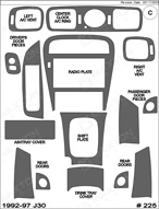 1995 Infiniti J30  Dash Kit Shadow Sheet