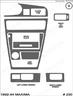 1994 Nissan Maxima Dash Kit Shadow Sheet
