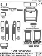 1997 Nissan 200 SX Dash Kit Shadow Sheet