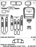 1999 Nissan Sentra Dash Kit Shadow Sheet