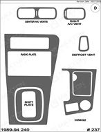 1990 Nissan 240 Dash Kit Shadow Sheet