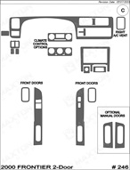 2000 Nissan Frontier Dash Kit Shadow Sheet