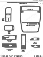 1994 Nissan Pathfinder Dash Kit Shadow Sheet