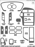 2000 Nissan Pathfinder Dash Kit Shadow Sheet