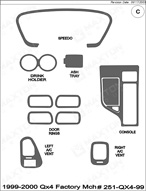 2000 Infiniti Qx4 Dash Kit Shadow Sheet