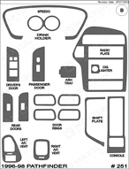 1996 Nissan Pathfinder Dash Kit Shadow Sheet
