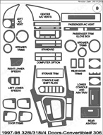 1997 BMW 3-Series Dash Kit Shadow Sheet