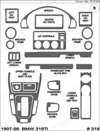 1997 BMW 318ti Dash Kit Shadow Sheet