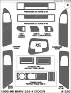 1996 BMW 325 Dash Kit Shadow Sheet