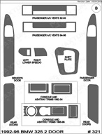 1995 BMW 325 Dash Kit Shadow Sheet