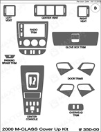 2000 Mercedes M-Class Dash Kit Shadow Sheet