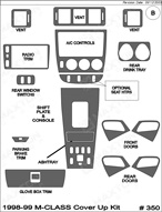 1998 Mercedes M-Class Dash Kit Shadow Sheet