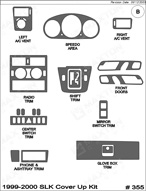 1999 Mercedes SLK Dash Kit Shadow Sheet