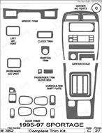1997 Kia Sportage Dash Kit Shadow Sheet