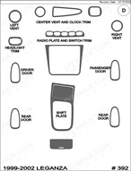 2002 Daewoo Leganza Dash Kit Shadow Sheet