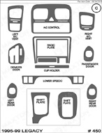 1996 Subaru Legacy Dash Kit Shadow Sheet