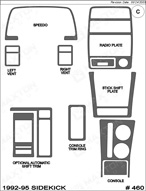 1993 Geo Tracker Dash Kit Shadow Sheet