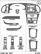 1996 SAAB 900 Dash Kit Shadow Sheet