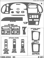 2002 SAAB 9-3 Dash Kit Shadow Sheet