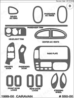 1999 Dodge Caravan Dash Kit Shadow Sheet