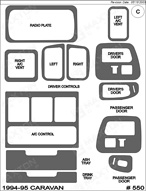 1994 Dodge Caravan Dash Kit Shadow Sheet