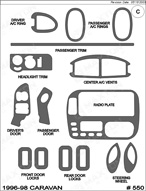 1998 Dodge Caravan Dash Kit Shadow Sheet