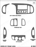 1998 Dodge Ram Dash Kit Shadow Sheet