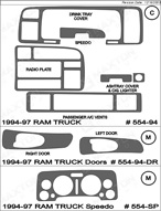 1996 Dodge Ram Dash Kit Shadow Sheet