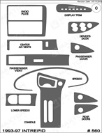 1995 Dodge Intrepid Dash Kit Shadow Sheet