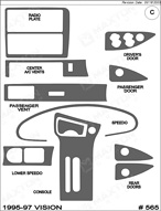 1996 Eagle Vision Dash Kit Shadow Sheet