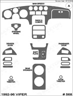 1996 Dodge Viper Dash Kit Shadow Sheet