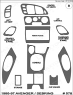 1996 Dodge Avenger Dash Kit Shadow Sheet
