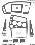 1993 Mitsubishi Eclipse Dash Kit Shadow Sheet