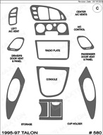1997 Eagle Talon Dash Kit Shadow Sheet