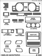 1998 Mitsubishi Montero Dash Kit Shadow Sheet
