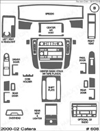 2002 Cadillac Catera Dash Kit Shadow Sheet