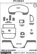 2000 Ford Ranger Dash Kit Shadow Sheet