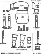 2000 Mercury Mountaineer Dash Kit Shadow Sheet