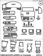 1998 Ford Explorer Dash Kit Shadow Sheet
