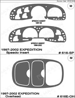 2000 Ford Expedition Dash Kit Shadow Sheet