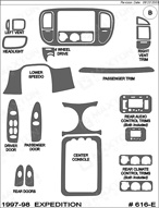 1998 Ford Expedition Dash Kit Shadow Sheet