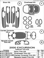 2000 Ford Excursion Dash Kit Shadow Sheet