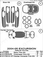 2005 Ford Excursion Dash Kit Shadow Sheet