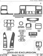 2003 Ford Excursion Dash Kit Shadow Sheet
