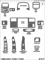 1998 Ford F-Series SuperDuty Dash Kit Shadow Sheet
